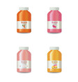 juice or yogurt bottles set realistic vector image