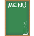 menu card chalkboard vector image