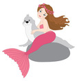 Mermaid And Seal vector image