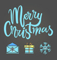 merry christmas festive poster vector image vector image