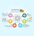 modern business infographics with radial shapes vector image