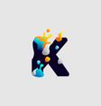 modern color full letter logo initial letter vector image vector image