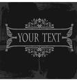 ornate grunge scroll vector image vector image