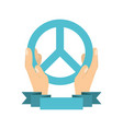 peace symbol design vector image vector image