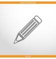 pencil web flat icon vector image vector image