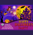 poster a happy halloween party with a young vector image