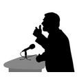 public speaking vector image vector image