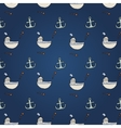 Seamless abstract pattern nautical and marine vector image vector image