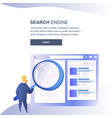 search engine website color flat template vector image vector image
