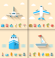 set banners with flat icons planning summer vector image