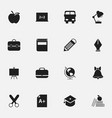 set of 16 editable knowledge icons includes vector image vector image