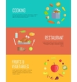 Set of Horizontal Food Concepts Banners vector image