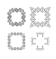 Set of trendy geometric shapes hipster frames vector image