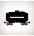 Silhouette tank car on a light background vector image vector image