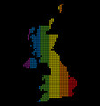 spectrum dot lgbt united kingdom map vector image