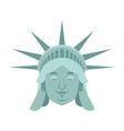 statue of liberty sleeping emoji us landmark vector image vector image