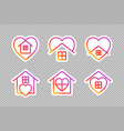 stay home social media icons on transparent vector image vector image