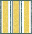 stylish irregular saffron color and teal stripe vector image vector image