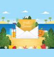 summer season with email vector image vector image