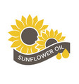 sunflower oil emblem vector image vector image
