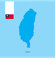 taiwan country map with flag over blue background vector image