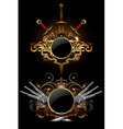 two ornamental shields vector image
