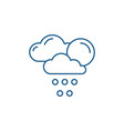 weather forecast line icon concept weather vector image vector image