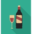 Wine icons design vector image vector image
