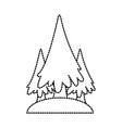 trees pines symbol vector image