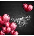 Valentines Day retro label on the blackboard vector image