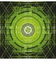 Abstract green element over black background vector image vector image