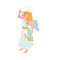 angel carnival costume vector image vector image