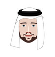 arabian man profile icon face as seen from the vector image