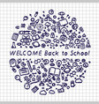 back to school banner signboard vector image vector image