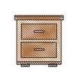 bedside table wooden image vector image vector image