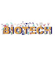biotech typography banner template flat vector image