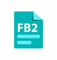 blue icon fb2 file format extensions icon vector image vector image