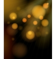 Blurred golden bubbles shimmering background vector image vector image