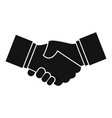 business handshake icon simple style vector image