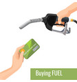 buying petrol concept emblem template for vector image vector image