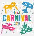carnival poster vector image vector image