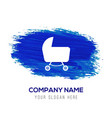 cart icon - blue watercolor background vector image
