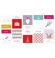christmas greeting cards 3 vector image