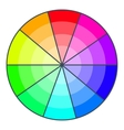 Color wheel with shades icon cartoon style vector image