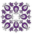 colorful handdrawn mandala with paisley on white vector image vector image