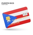 Credit card with Puerto Rico flag background for