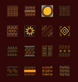 ethnic handmade ornament tribal abstract vector image vector image
