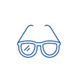 fashionable glasses line icon concept fashionable vector image