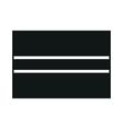 flag of botswana monochrome on white background vector image vector image