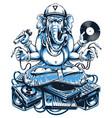 ganesha music art vector image vector image